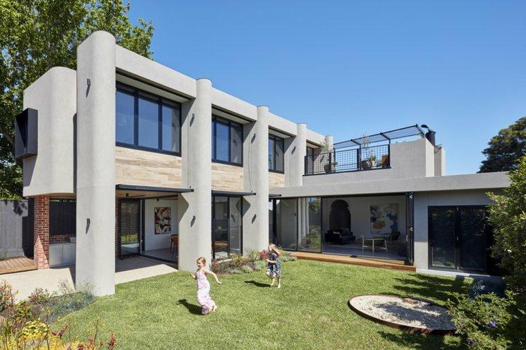 casa hermosa y futurista