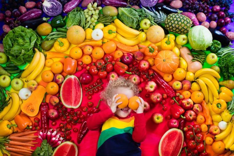 alimentos de colores