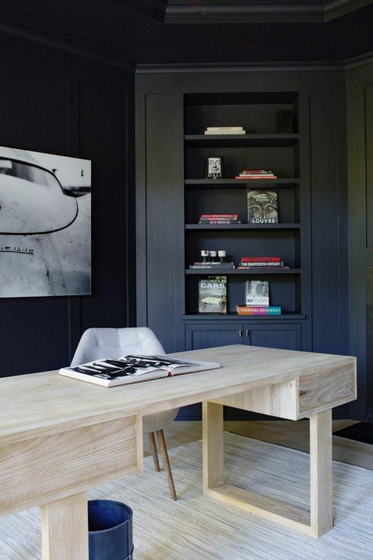 escritorio de madera natural