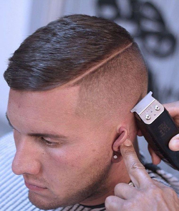 Peinado moderno con carrerilla