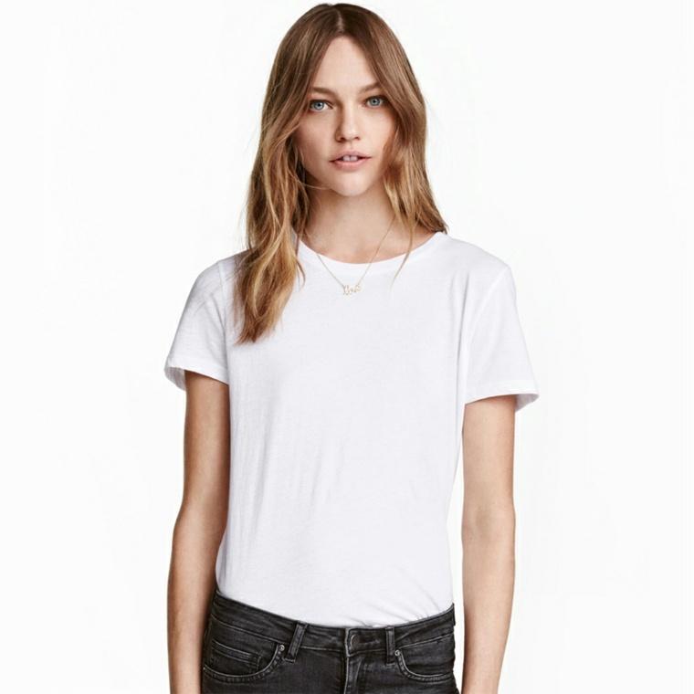 camiseta clásica blanca