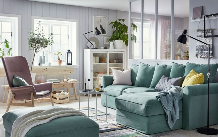 Diseño de interiores con colores fríos