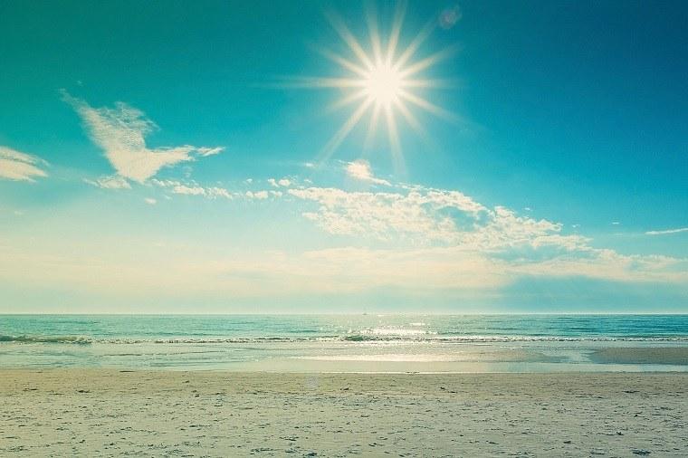 intensidad del sol en el horizonte