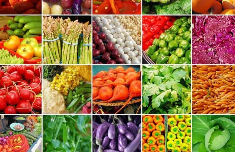 cuadro alimentos de colores