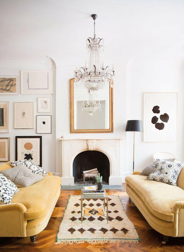 sofas color mostaza
