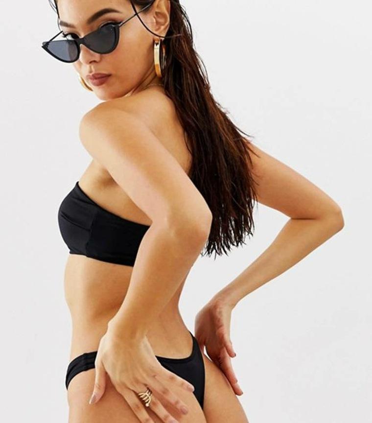 Bikini negro con tanga