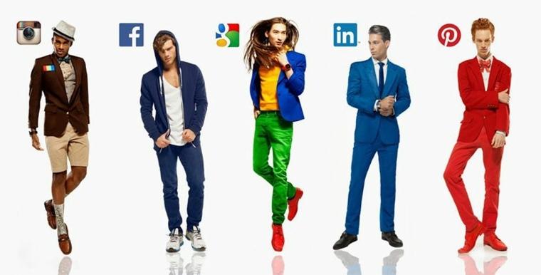 redes sociales representadas en personas