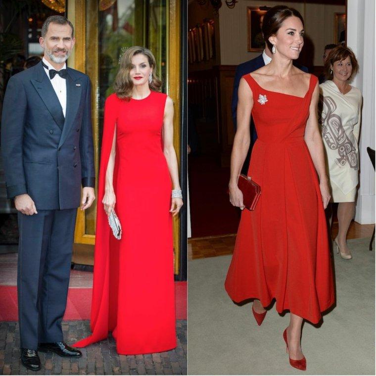 Vestido de alfombra roja, estilo real