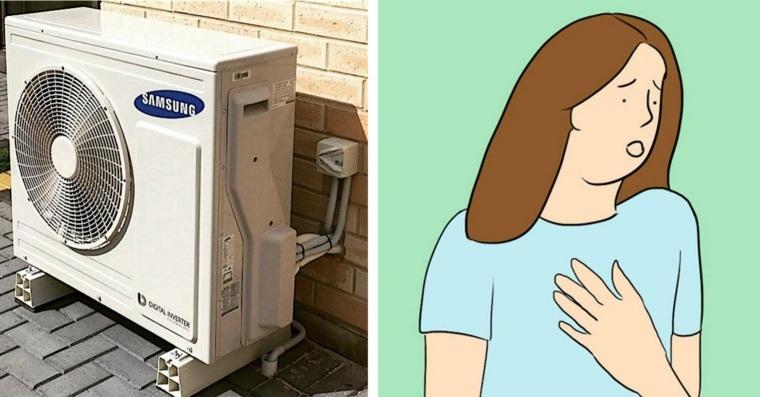 climatizador de aire provoca tos