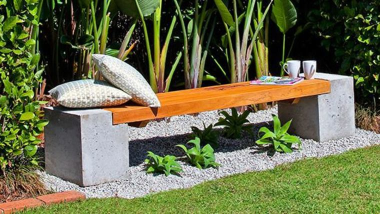 banco para el jardín