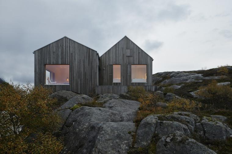 tipos de casas de campo y cabañas campestres