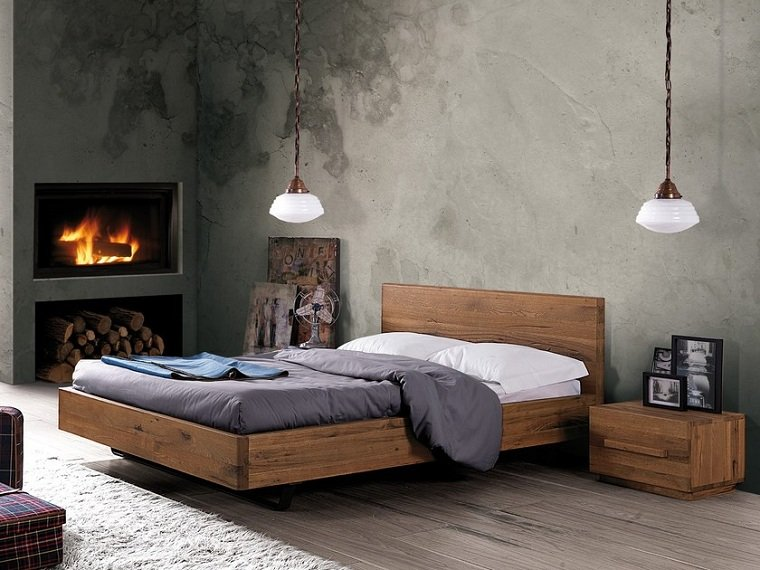 cama-madera-maciza-roble-soporte-metal