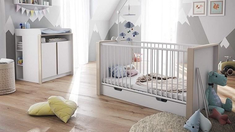 camas para bebes recien nacidos-color-blanco