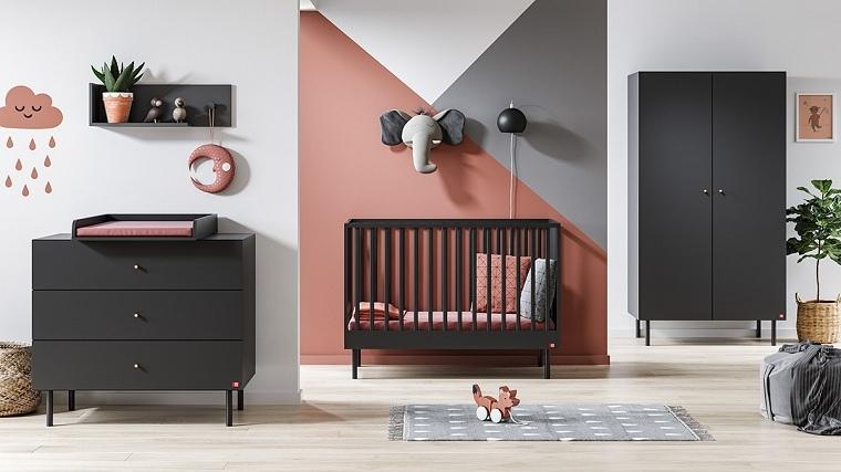 camas para bebes recien nacidos-muebles-negros