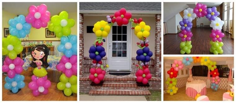 decoración de cumpleaños arcos