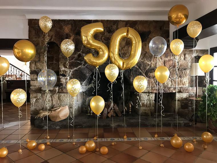decoracion de cumpleaños helio