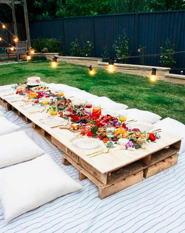 decoracion de cumpleaños jardin