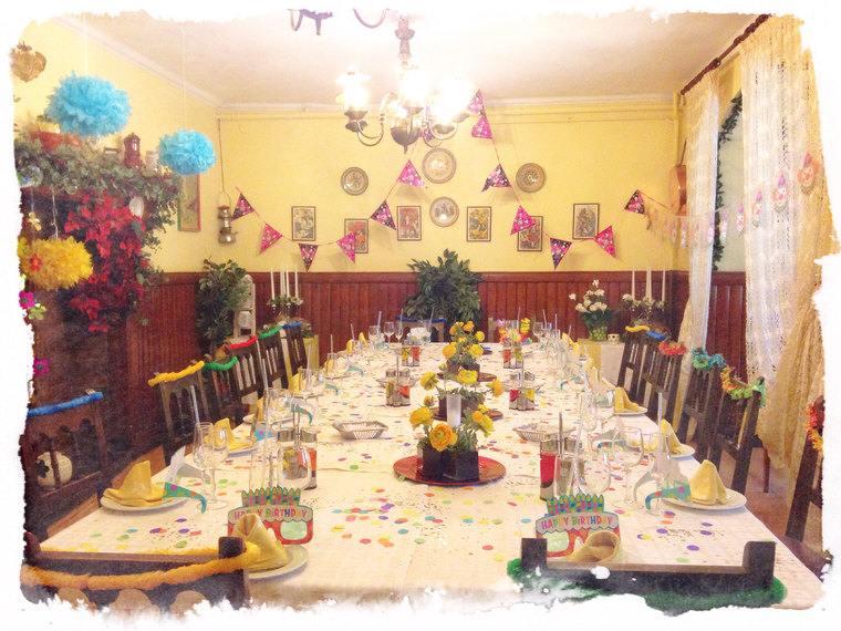 decoracion de cumpleaños mesa