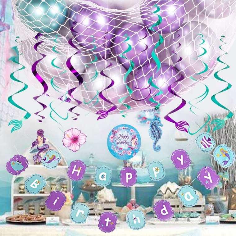 decoracion de cumpleaños morado