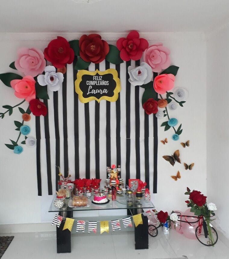 decoración de cumpleaños papel