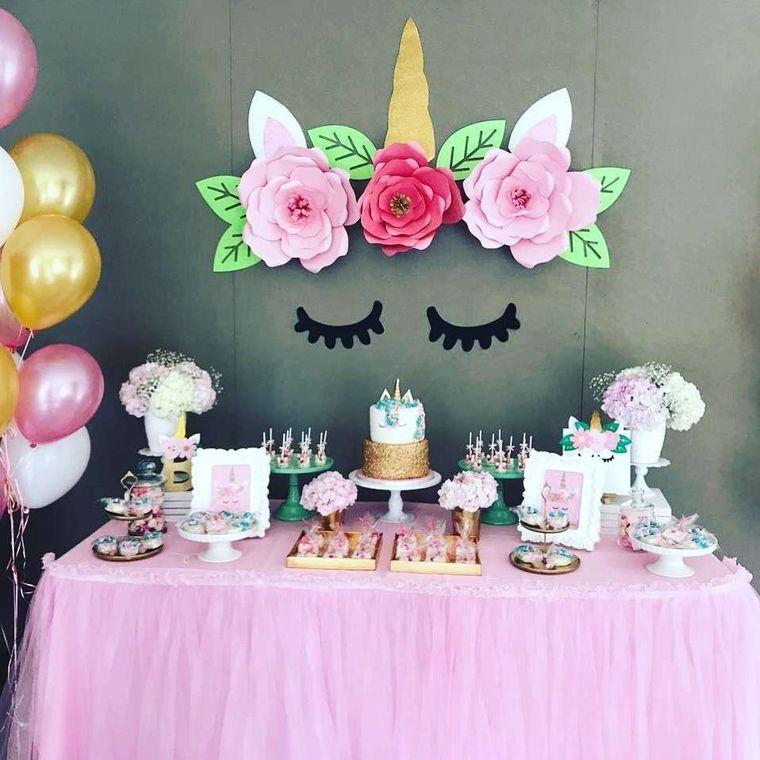 decoracion de cumpleaños rosa