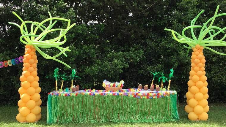 decoracion de cumpleaños selva