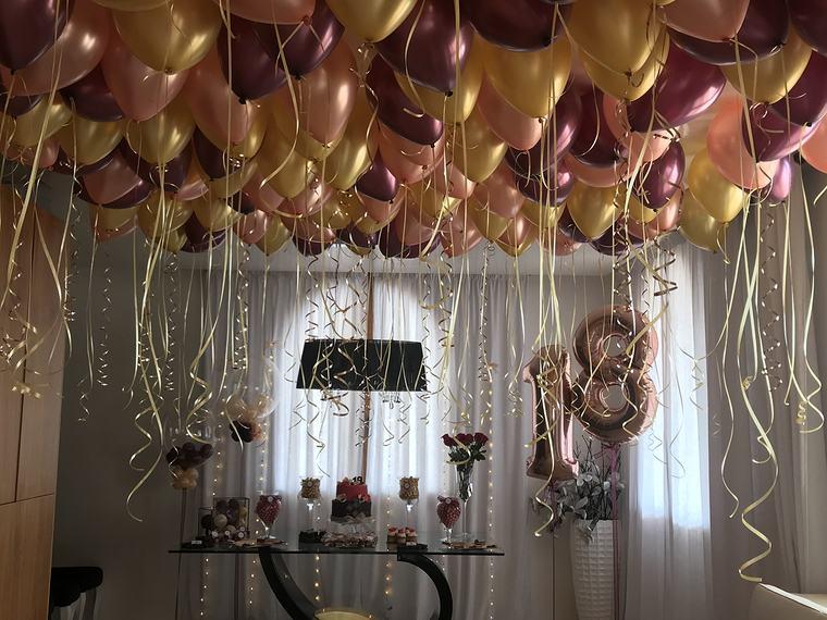 decoracion de cumpleaños techo