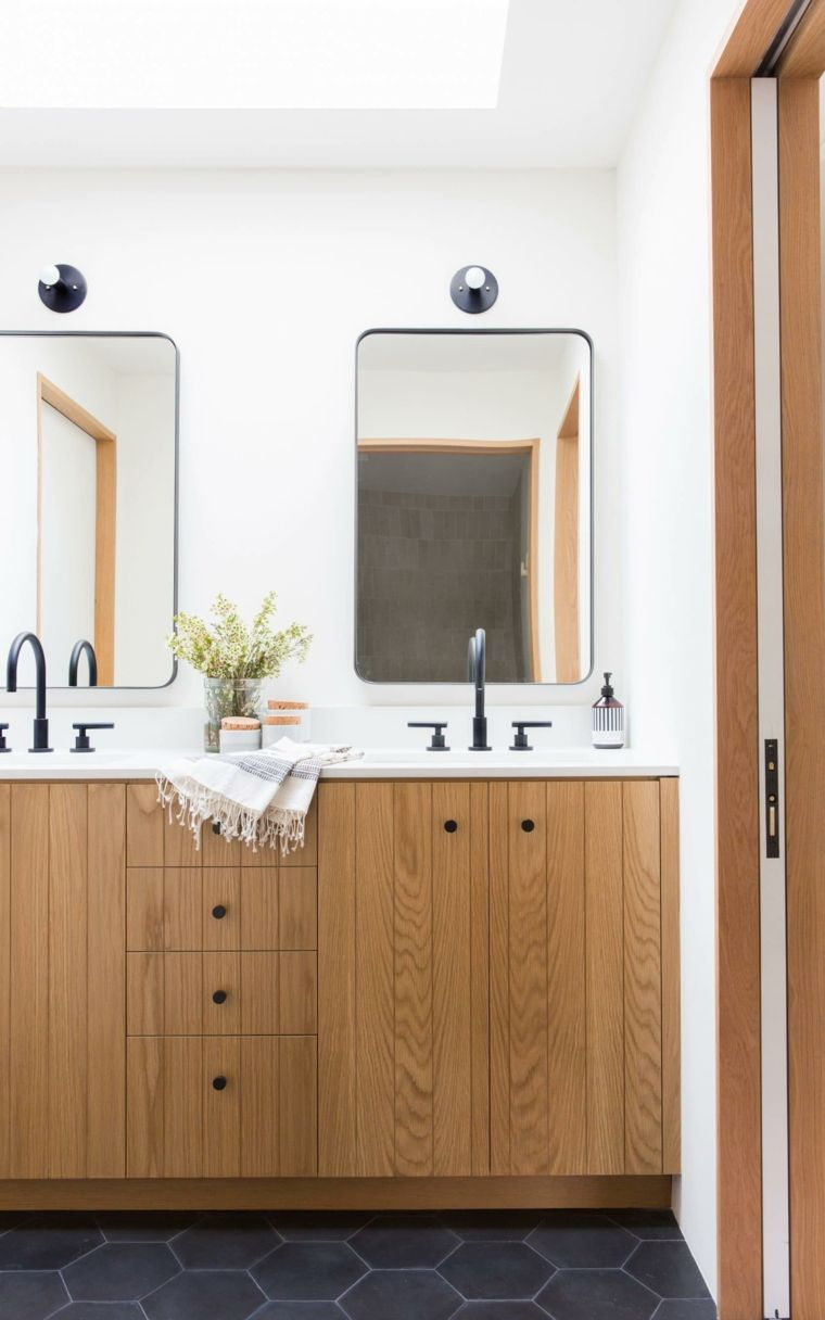 Diseños de cuartos de baño con azulejos hexagonales