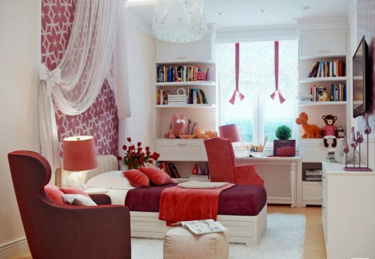 dormitorio-chica-color-rojo