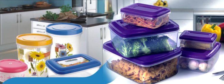 el plastico contenedores alimentos