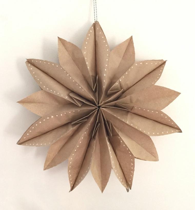Estrellas de bolsas de papel