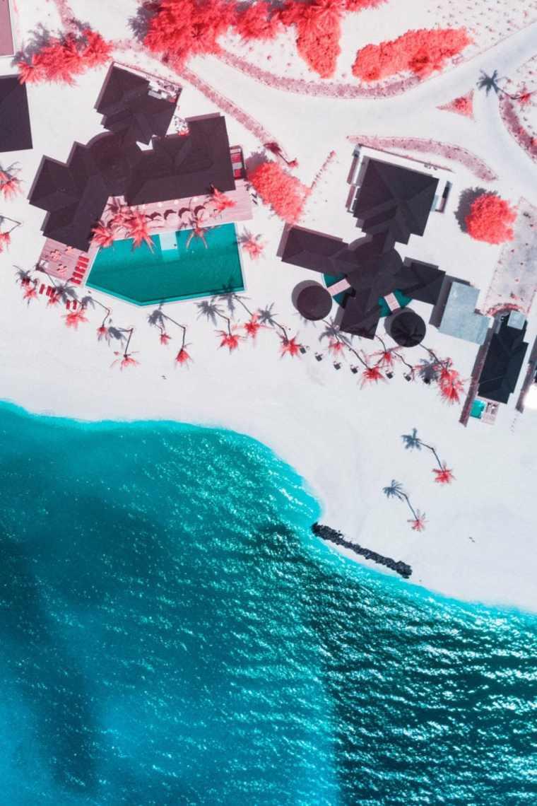 Fotografía en infrarrojos de las Maldivas