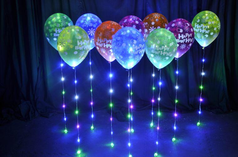 globos iluminados
