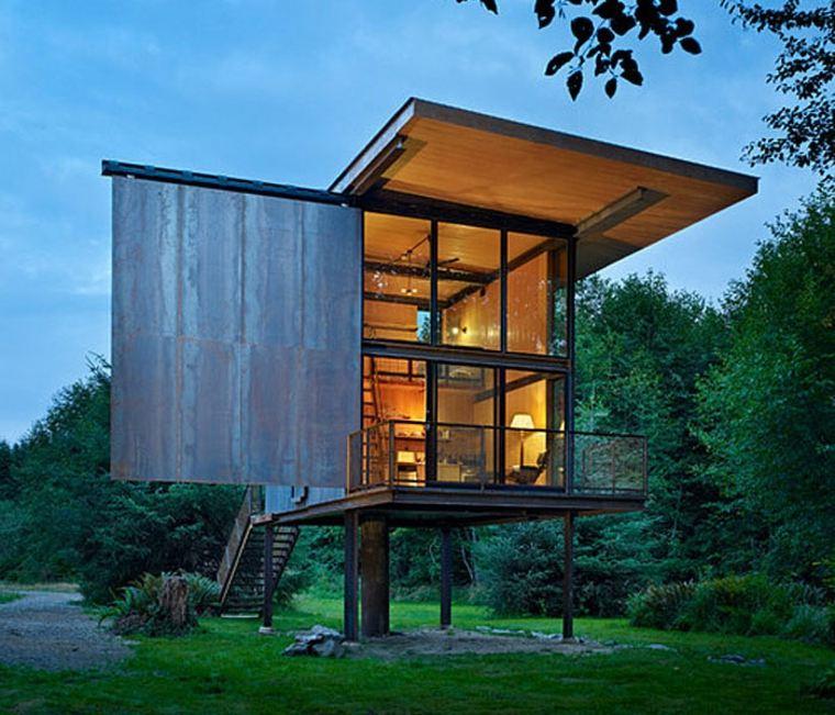 casa de campo moderna futurista