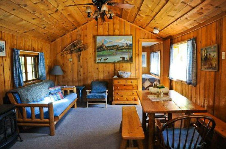 interior de cabaña