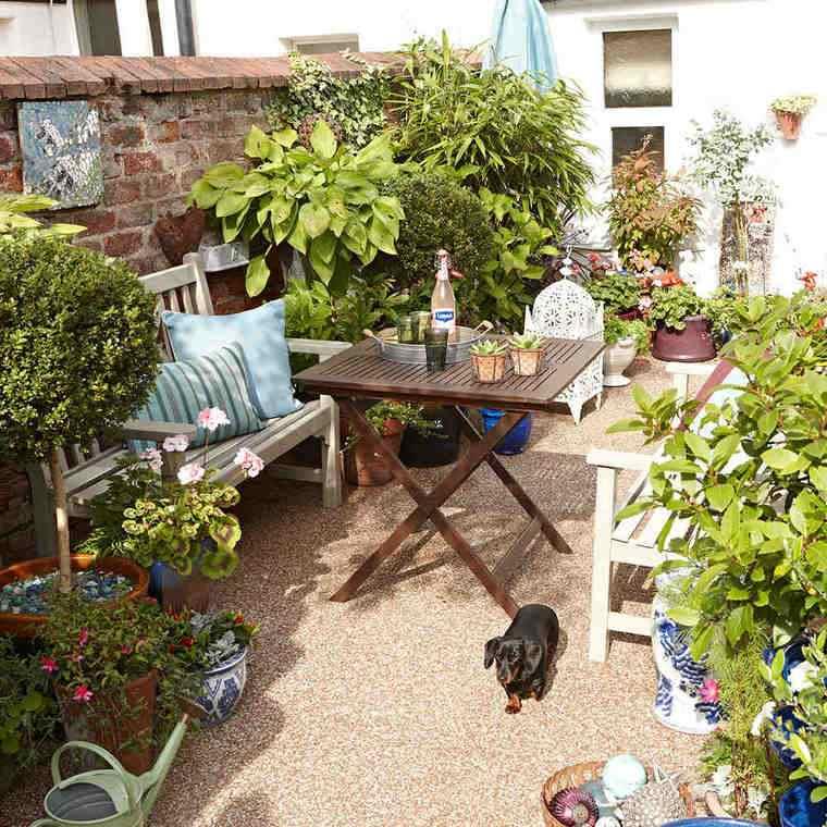 jardines pequeños compartir