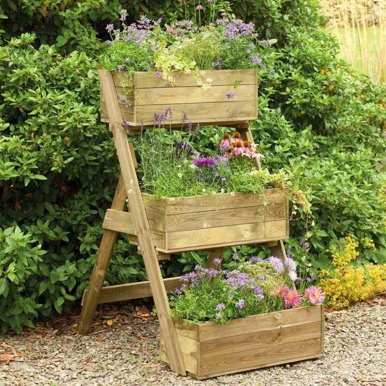jardines pequeños escalonada