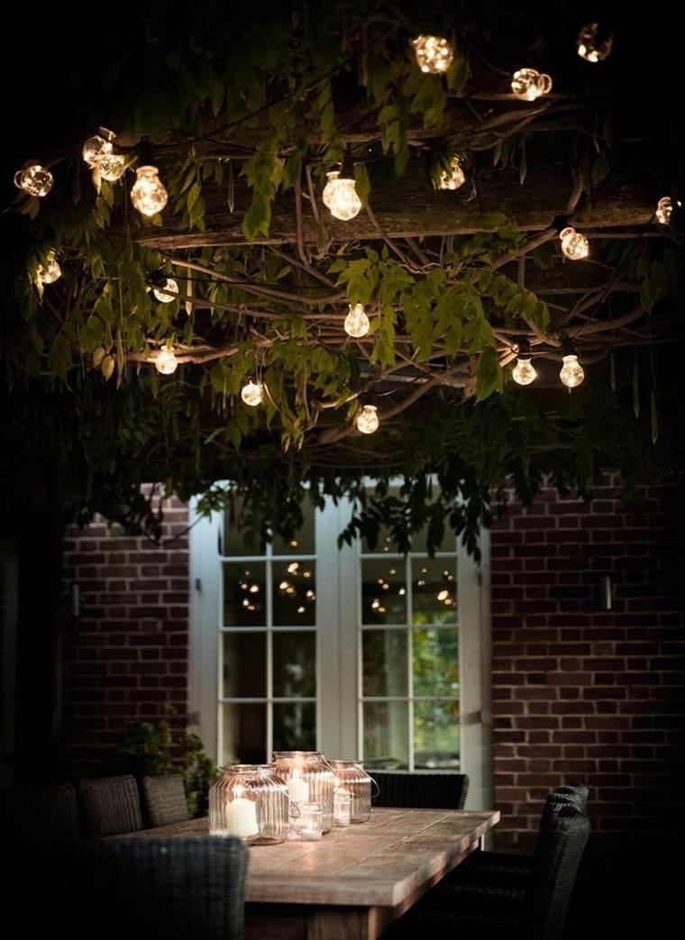 jardines pequeños iluminacion
