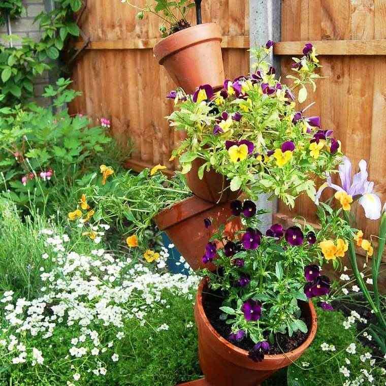 jardines pequeños macetas