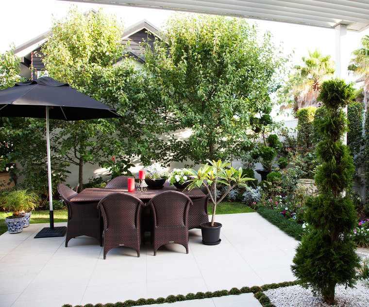 jardines pequeños muebles