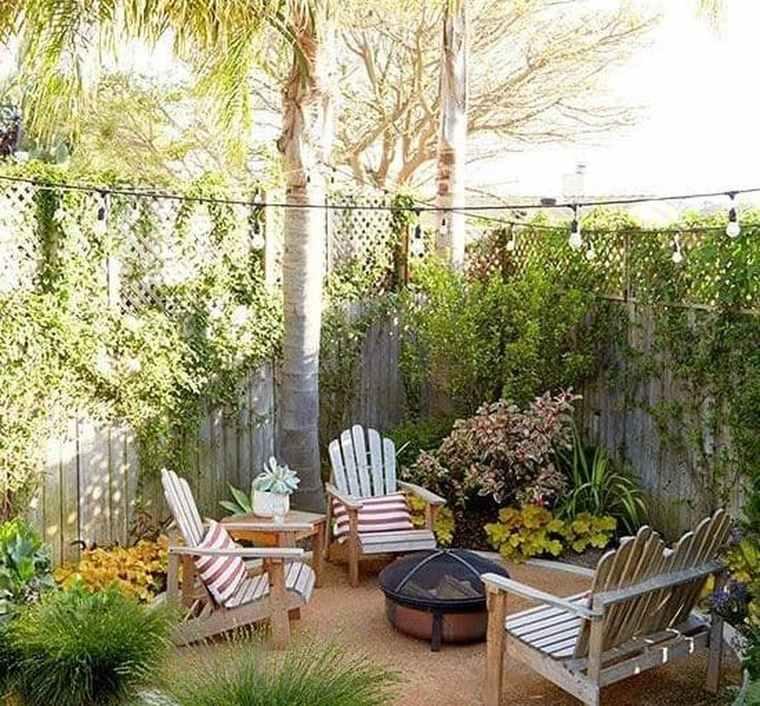 jardines pequeños muro
