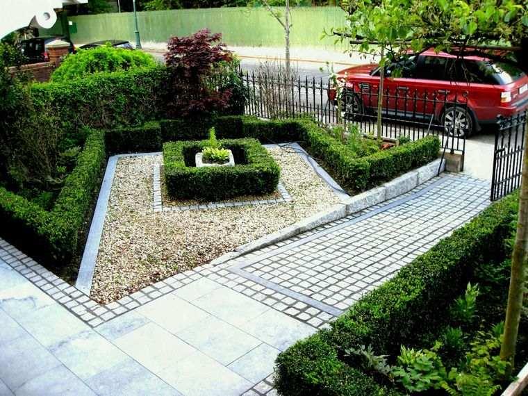 jardines pequeños piedras