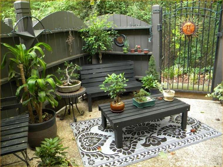 jardines pequeños piso