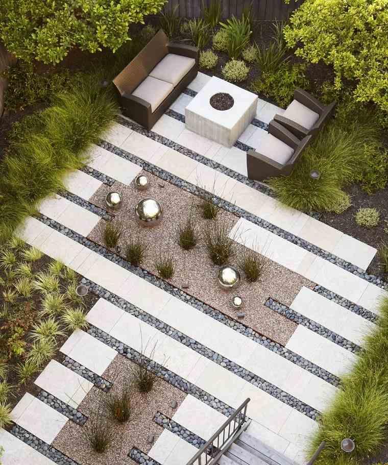 jardines pequeños con piedras-diseno-moda