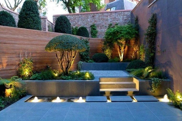 jardines pequeños con piedras-dos-niveles