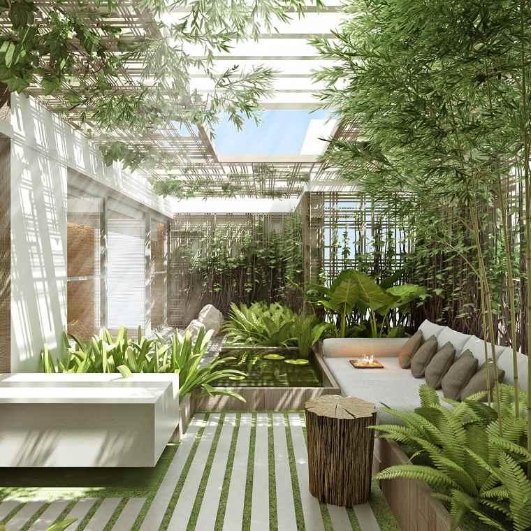 jardines pequeños con piedras estilo-moderno