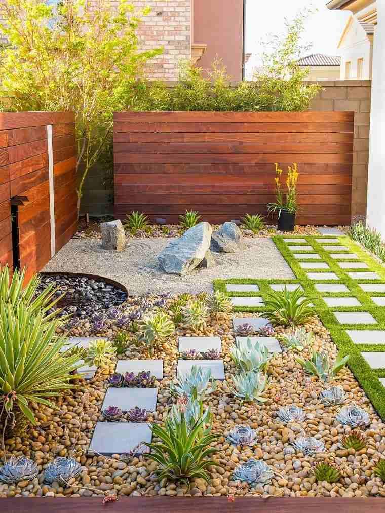 jardines pequeños con piedras-estilo-zen