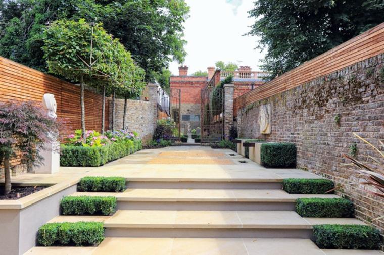 ideas de paisajismo de bajo mantenimiento en el patio trasero Patios Modernos Pequeos Ideas Para Decorar Y Embellecer