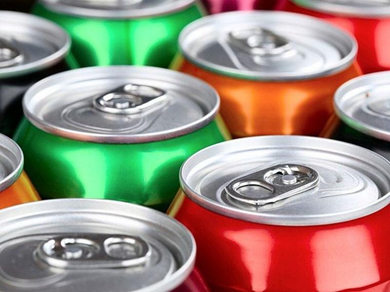 latas de bebidas
