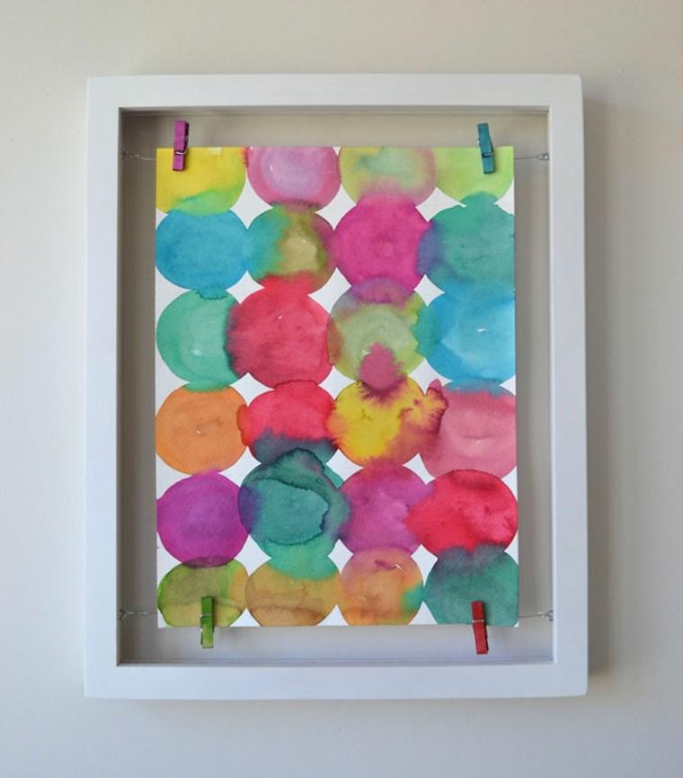 Pinturas de círculos inspirados en Kandinsky